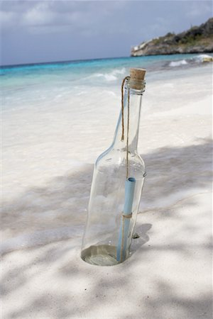Message in a Bottle, Karpata, Bonaire, Netherlands Antilles Stock Photo - Rights-Managed, Code: 700-02080407