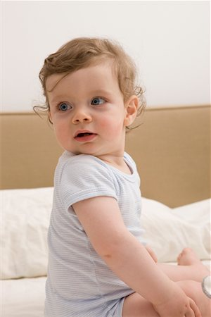 Portrait of Boy on Bed Stock Photo - Rights-Managed, Code: 700-02080571