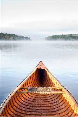 Cedar Strip Canoe on Haliburton Lake, Ontario, Canada Stock Photo - Rights-Managed, Code: 700-02081579