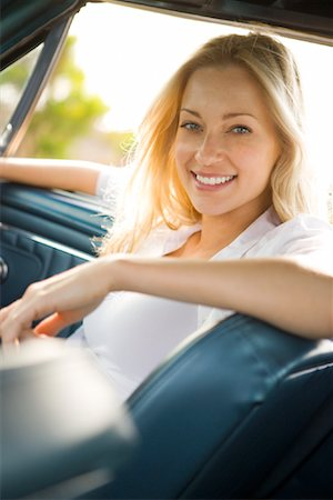 Woman in Car, Newport Beach, California, USA Stock Photo - Rights-Managed, Code: 700-02081921