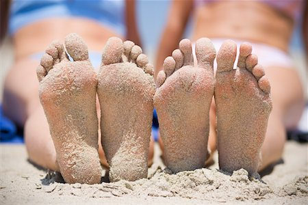 Women's Sandy Feet on the Beach, San Clemente, Newport Beach, Orange County, Southern California, California, USA Stock Photo - Rights-Managed, Code: 700-02081932