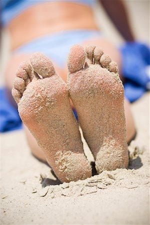 Woman's Sandy Feet on the Beach, San Clemente, Newport Beach, Orange County, Southern California, California, USA Stock Photo - Rights-Managed, Code: 700-02081933
