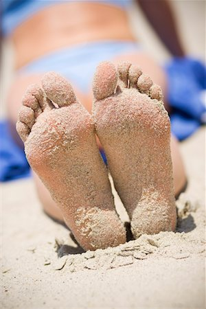 Woman's Sandy Feet on the Beach, San Clemente, Newport Beach, Orange County, Southern California, California, USA Stock Photo - Rights-Managed, Code: 700-02081933