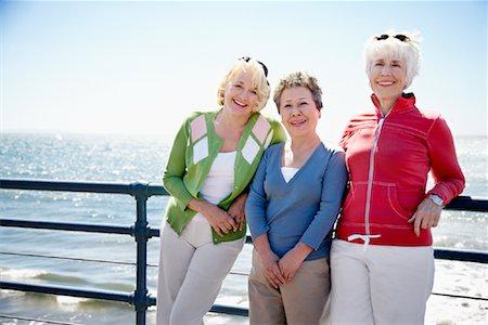 Women at the Beach, Santa Monica Pier, Santa Monica, California, USA Stock Photo - Rights-Managed, Code: 700-02081974