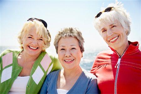 Women at the Beach, Santa Monica Pier, Santa Monica, California, USA Stock Photo - Rights-Managed, Code: 700-02081975