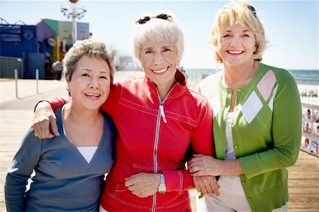 Women at Amusement Park, Santa Monica Pier, Santa Monica, California, USA Stock Photo - Rights-Managed, Code: 700-02081973