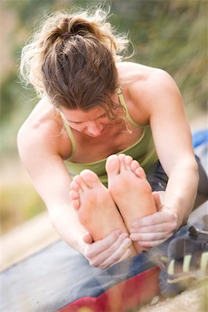 Woman Stretching, New Mexico, USA Stock Photo - Rights-Managed, Code: 700-02081989