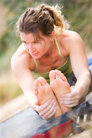 Woman Stretching, New Mexico, USA Stock Photo - Rights-Managed, Code: 700-02081990