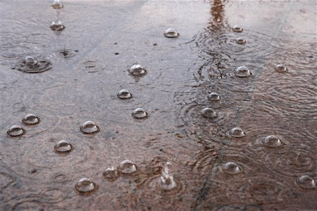 elements (weather) - Raindrops in Puddle Stock Photo - Rights-Managed, Code: 700-02082043