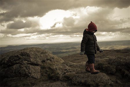 Boy Walking over Hills, Haytor, Dartmoor, Devon, England Stock Photo - Rights-Managed, Code: 700-02082076