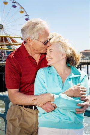 Couple at Santa Monica Pier, Santa Monica, California, USA Stock Photo - Rights-Managed, Code: 700-02125374