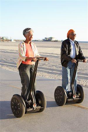 Couple Riding Segways along Beach Santa Monica, California, USA Stock Photo - Rights-Managed, Code: 700-02125378