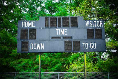 scoring - Scoreboard in High School Football Stadium, Ranier, Oregon Stock Photo - Rights-Managed, Code: 700-02125529
