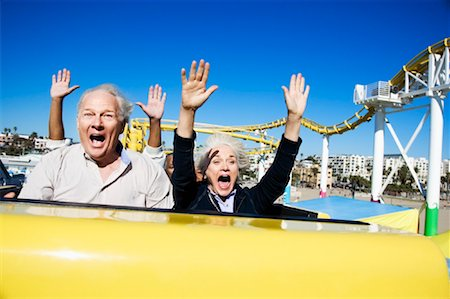 People on Roller Coaster, Santa Monica, California, USA Stock Photo - Rights-Managed, Code: 700-02156941