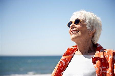 Woman on Beach, Santa Monica Pier, Santa Monica, California, USA Stock Photo - Rights-Managed, Code: 700-02156957