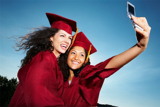 Graduates Taking Self Portrait Stock Photo - Premium Rights-Managed, Artist: Artiga Photo, Image code: 700-02175773