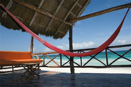 Hammock and Sitting Area on Beach, Tulum, Mexico Stock Photo - Rights-Managed, Code: 700-02198243