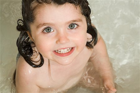 Portrait of Little Girl in Bathtub Stock Photo - Rights-Managed, Code: 700-02199841