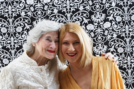 Portrait of Grandmother and Granddaughter Stock Photo - Rights-Managed, Code: 700-02199994