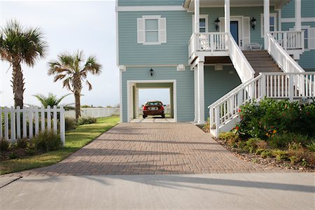 Car in Garage of Home, Galveston, Texas, USA Stock Photo - Rights-Managed, Code: 700-02200630