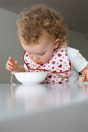 Baby Eating Spaghetti Stock Photo - Rights-Managed, Code: 700-02216106