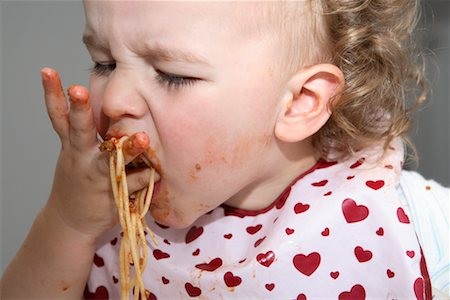 Baby Eating Spaghetti Stock Photo - Rights-Managed, Code: 700-02216107