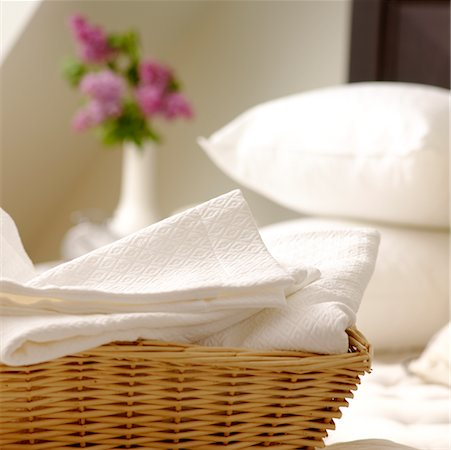 Basket of White Laundry Stock Photo - Rights-Managed, Code: 700-02216996