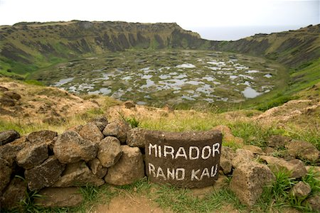Rano Kau Crater, Easter Island, Chile Stock Photo - Rights-Managed, Code: 700-02217119