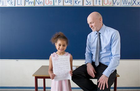 Teacher with Successful Student Stock Photo - Rights-Managed, Code: 700-02217438