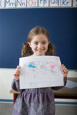 Successful Geography Student Stock Photo - Rights-Managed, Code: 700-02217448