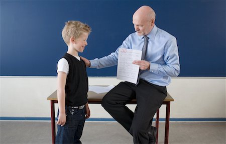 Teacher with Successful Student Stock Photo - Rights-Managed, Code: 700-02217441