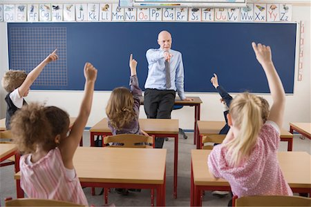 Teacher and Students in Classroom Stock Photo - Rights-Managed, Code: 700-02217455