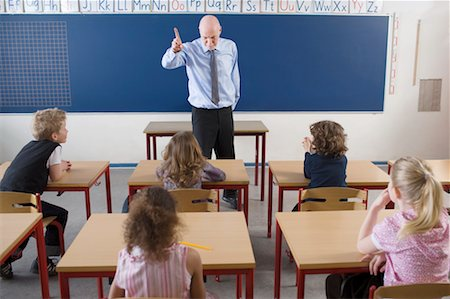 Teacher and Students in Classroom Stock Photo - Rights-Managed, Code: 700-02217452