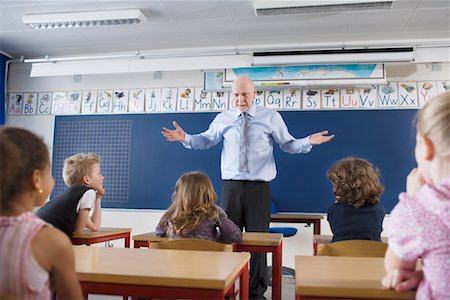 Teacher and Students in Classroom Stock Photo - Rights-Managed, Code: 700-02217453