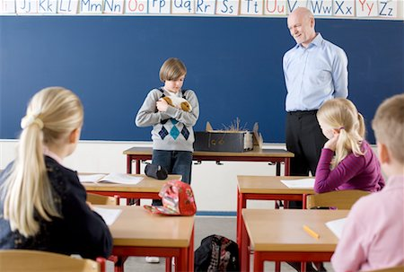 Teacher and Students in Classroom Stock Photo - Rights-Managed, Code: 700-02217477