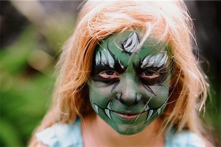 Girl with Painted Face, Costa Mesa, California, USA Stock Photo - Rights-Managed, Code: 700-02217549