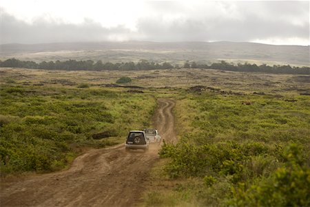 Cars on Dirt Road, Easter Island, Chile Stock Photo - Rights-Managed, Code: 700-02223125