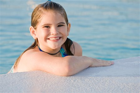 Portrait of Girl in Swimming Pool Stock Photo - Rights-Managed, Code: 700-02231913