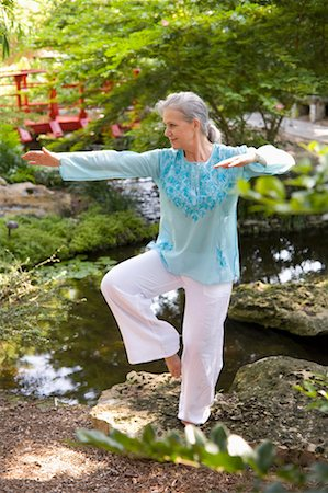 Woman Practicing Tai Chi Stock Photo - Rights-Managed, Code: 700-02232063