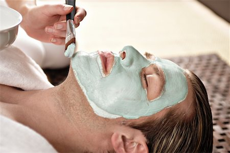 facial - Man Getting a Facial Stock Photo - Rights-Managed, Code: 700-02244996