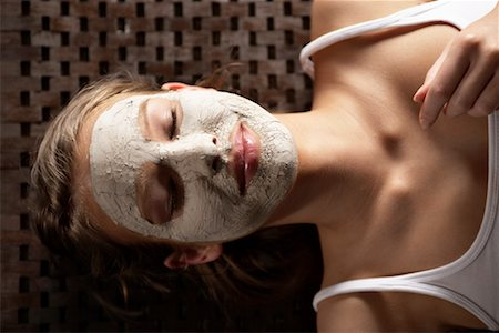 facial - Woman Getting a Facial Stock Photo - Rights-Managed, Code: 700-02245048