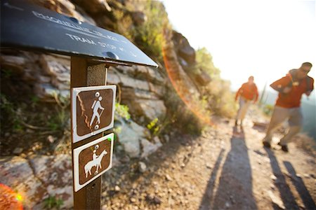 Hiking Sign and Hikers on Trail, Sabino Canyon, Arizona, USA Stock Photo - Rights-Managed, Code: 700-02245389