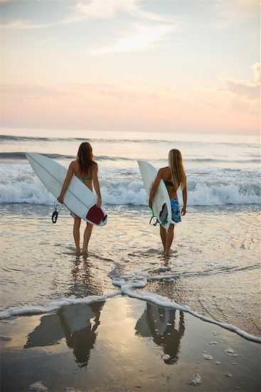 Surfers on the Beach at Sunset, Encinitas, San Diego County, California, USA Stock Photo - Premium Rights-Managed, Artist: Ty Milford, Image code: 700-02245449
