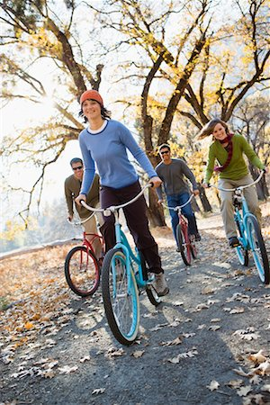 Friends Cycling Together, Yosemite National Park, California, USA Stock Photo - Rights-Managed, Code: 700-02245520
