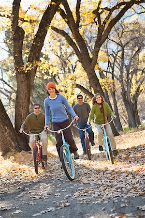 Friends Cycling Together, Yosemite National Park, California, USA Stock Photo - Rights-Managed, Code: 700-02245521