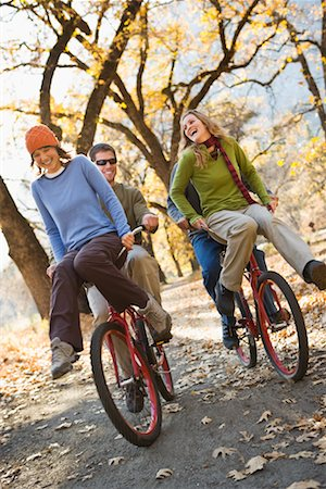 Friends Cycling Together, Yosemite National Park, California, USA Stock Photo - Rights-Managed, Code: 700-02245522