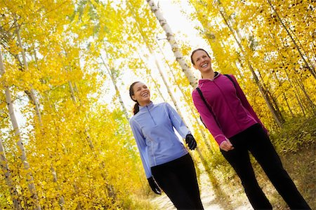 Women Taking a Walk in a Forest, Methow Valley Near Mazama, Washington, USA Stock Photo - Rights-Managed, Code: 700-02245556