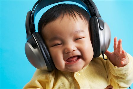 Portrait of Baby with Headphones Stock Photo - Rights-Managed, Code: 700-02264114