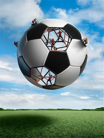 Construction Workers Building a Soccer ball Stock Photo - Rights-Managed, Code: 700-02264971