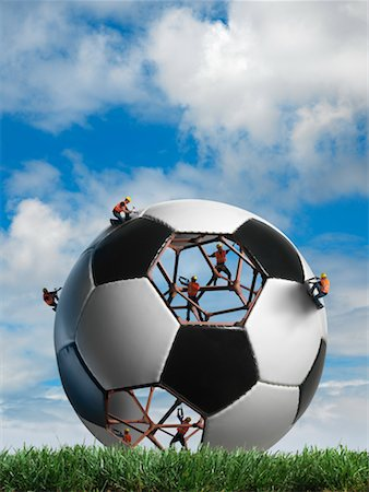 Construction Workers Building a Soccer ball Stock Photo - Rights-Managed, Code: 700-02264972